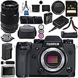 Fujifilm X-H1 Mirrorless Digital Camera (Body Only) 16568731 XF 90mm f/2 R LM WR Lens 16463668 VPB-XH1 Vertical Power Booster Grip Bundle