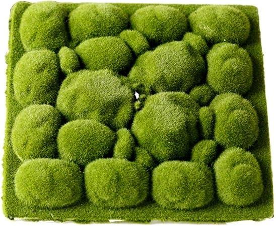 Natural Planta verde del césped artificial del musgo del jardín decoración del hogar de la pared