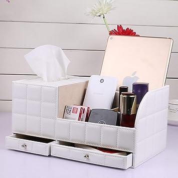 d8ffe5dd5 Bolsa de maquillaje Bolsa de aseo portátil Organizadores de maquillaje Caja  de almacenamiento de cuero con cajonera Control remoto multifuncional Caja  de ...