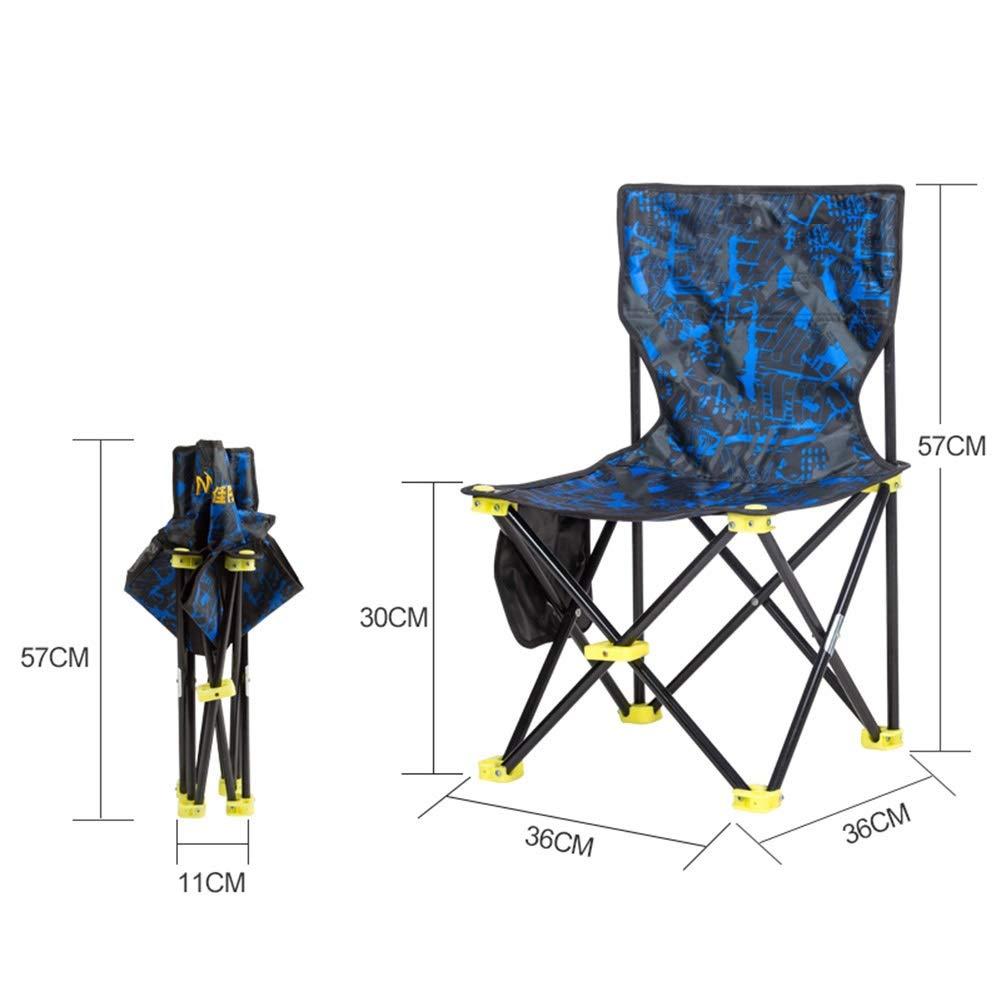 Bleu 333352cm ZHAOYONGLI-Tabourets Pliant,Chaise Pliante Tabouret De Pêche portable Extérieur Petit Tabouret Pliant De Chaise De Camping De Plage De Mazar