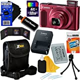 Canon PowerShot SX620 HS 20.2 MP Wi-Fi Digital Camera with 25x Optical Zoom & HD 1080p video (Red) International Version + 10pc 32GB Accessory Kit w/HeroFiber Gentle Cleaning Cloth