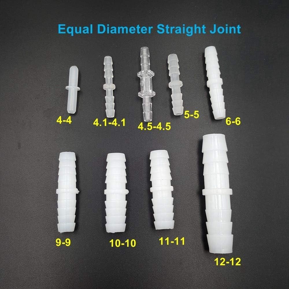 NO LOGO FMN-Gears 5pcs PE de qualit/é Alimentaire Droite Joint de Tuyau Raccord de Tuyau Diam/ètre Joint Equal Gladhand for Tuyau Tube Silicone Taille : 4 4mm