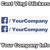 Like Us Find Us On Facebook Car Shop Window Vinyl Sticker - Facebook window stickers for business uk