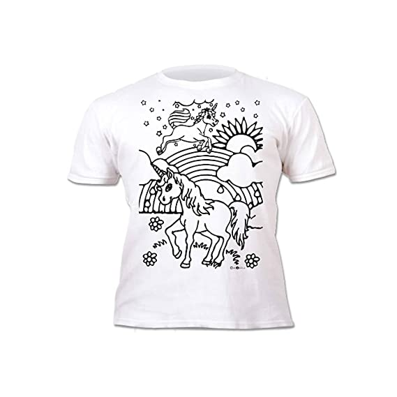 Splat Planet Camiseta Unicornio para niñas. con impresión para ...