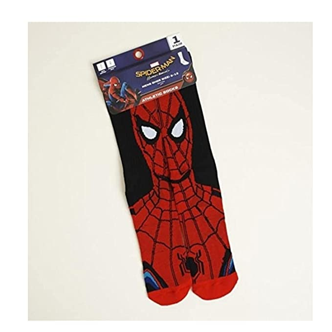 Spider-Man Homecoming Alter-Ego Athletic Socks Size 6-12