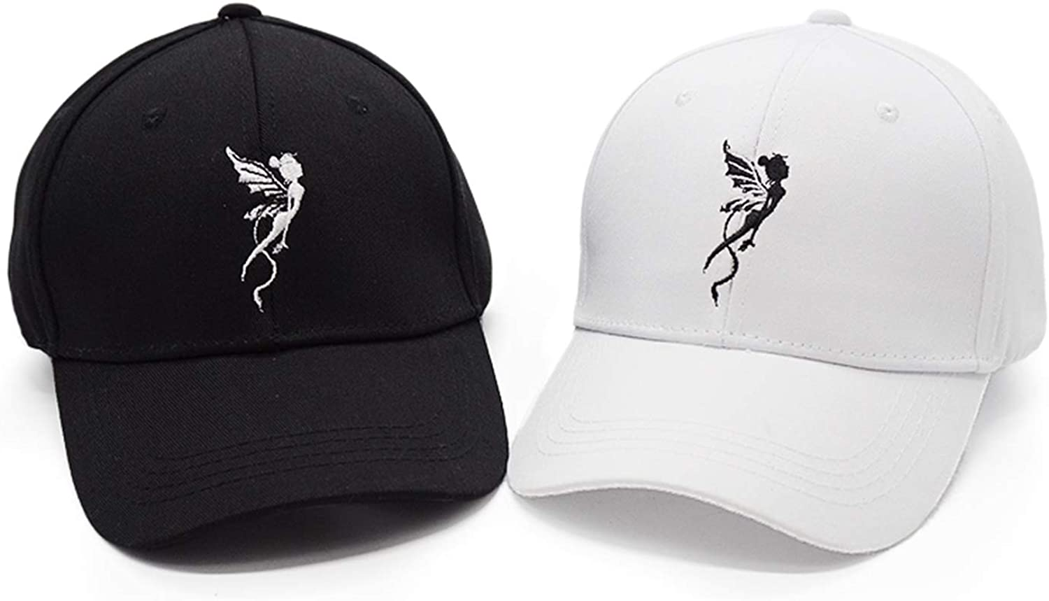 Jeremy Stone Angel Women Girls Wing Embroidery Hat Casquette Female Street Leisure Hip Hop Caps