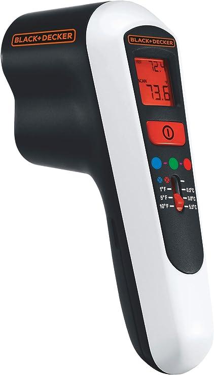 Black Decker Li Ion Energiespar Detektor 9v Infrarot Thermometer Thermodetektor Mit Lcd Display Led Signallicht Zum Beheben Von Isolierschwachstellen Tdl100 Baumarkt