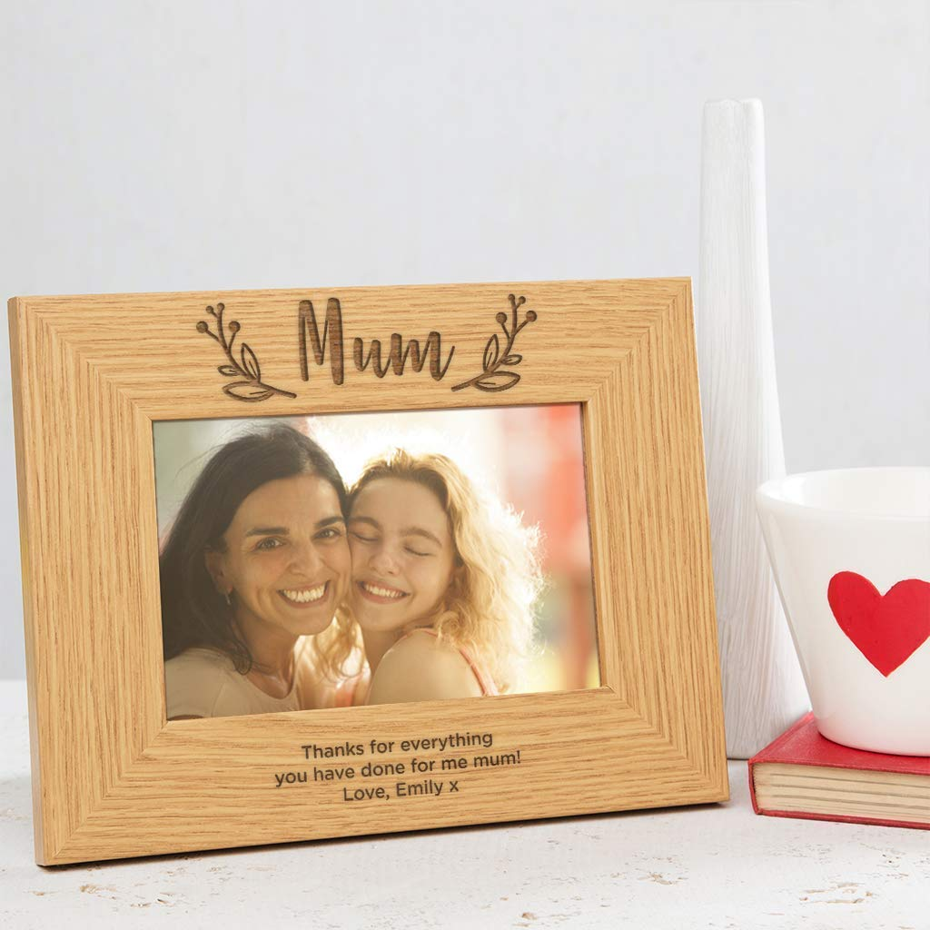 Free Engraving Mommy Photo Frame I heart-Love My Mommy 6 x 4 Photo Frame