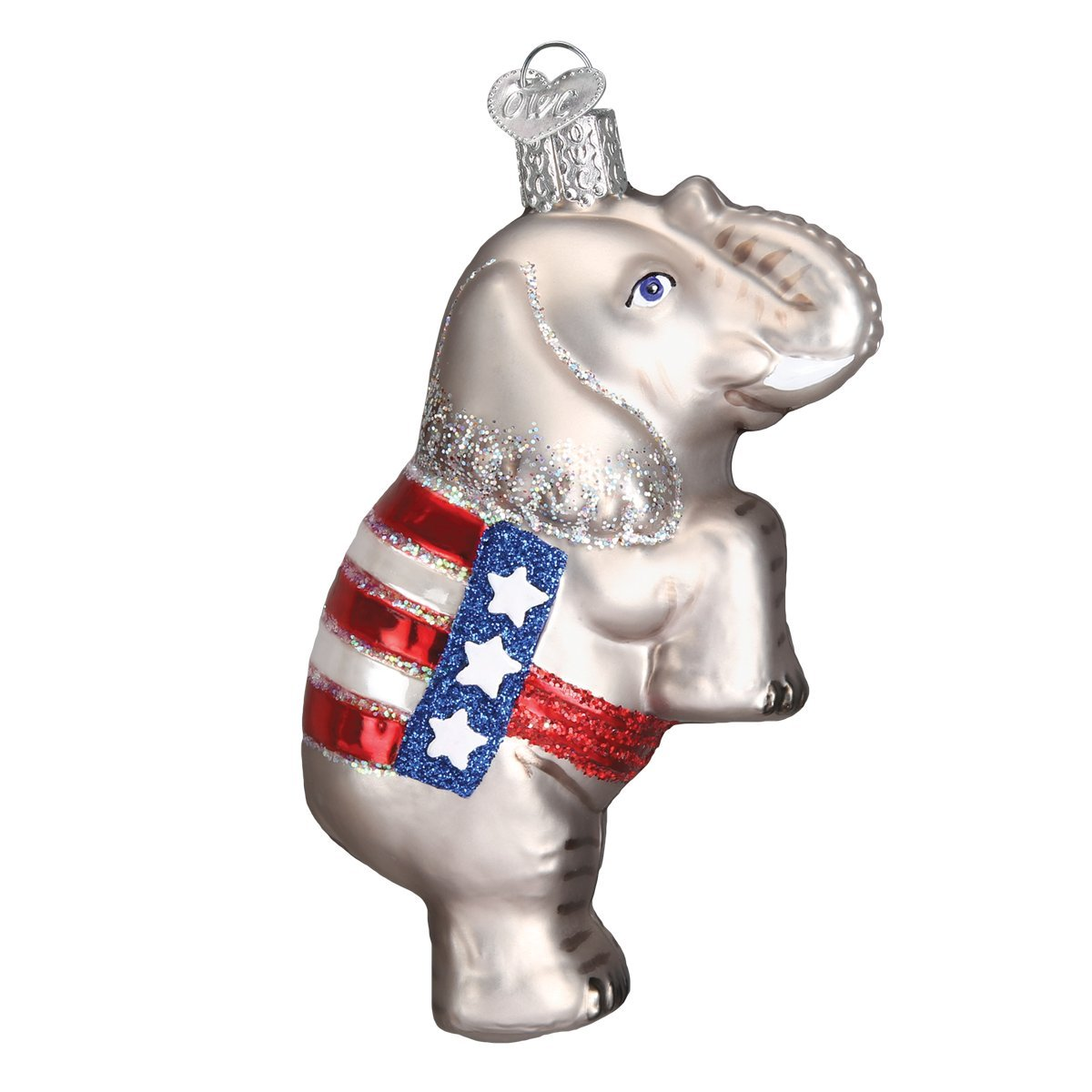 Amazon.com: Old World Christmas Republican Elephant Glass Blown ...