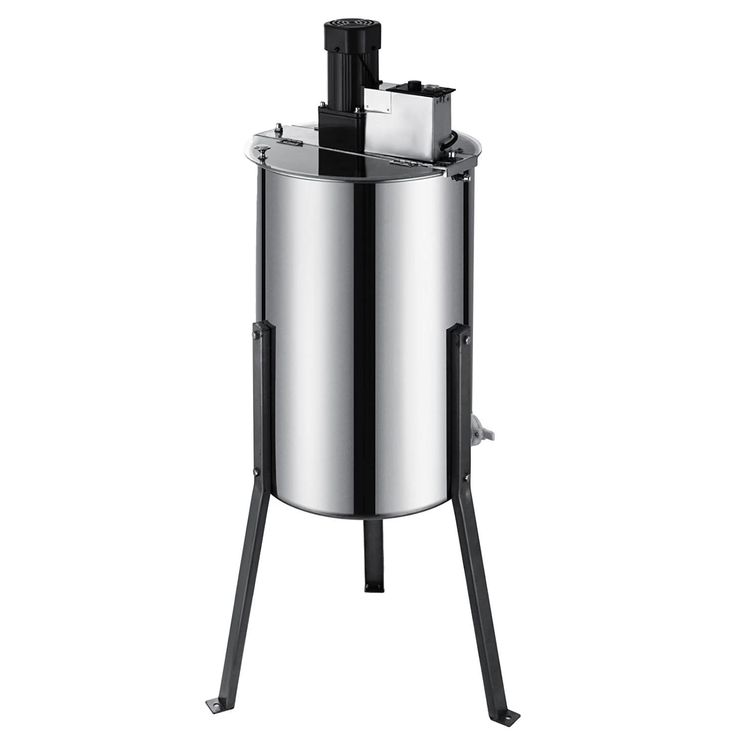Electric 2 frame Techlifer Electric Honey Extractor Stainless Steel Barrel Height 2 Frame 15  Diameter Honeycomb Drum Spinner Beekeeping Equipment with Strainer (Electric 2 frame)
