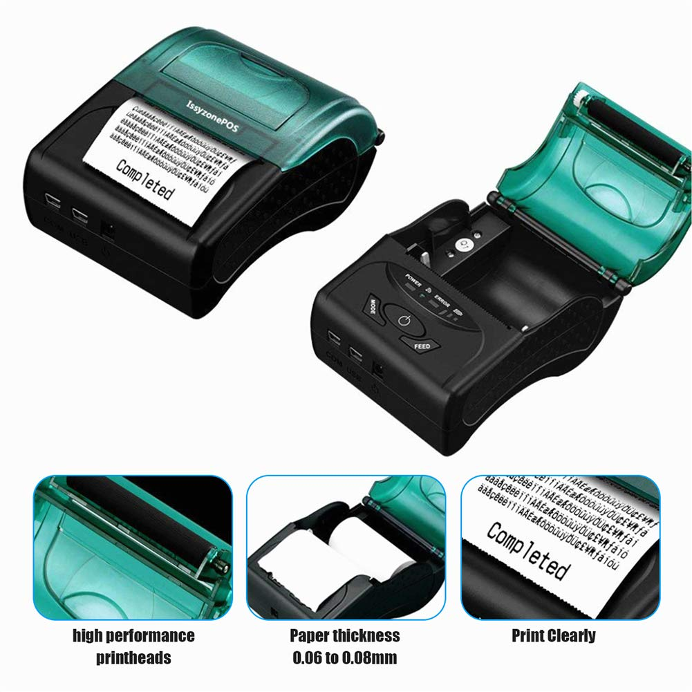 kompatibel mit ESC//POS//Star Druckbefehlen Set. mobiler Mini-Drucker Bluetooth-Drucker f/ür iOS und Android Systeme tragbar Thermo-Quittungsdrucker 58 mm