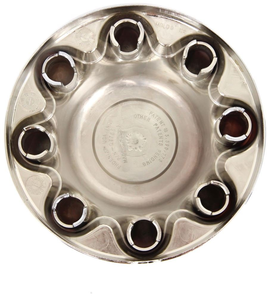 BA Products Set of 2 - Phoenix QT765CHN-x2, 16'' Wheel ABS Chrome Plated Wheel Cover, HUB Cap for 16'' Trailer Wheel with Eight -13/16'' Lug Nuts by BA Products