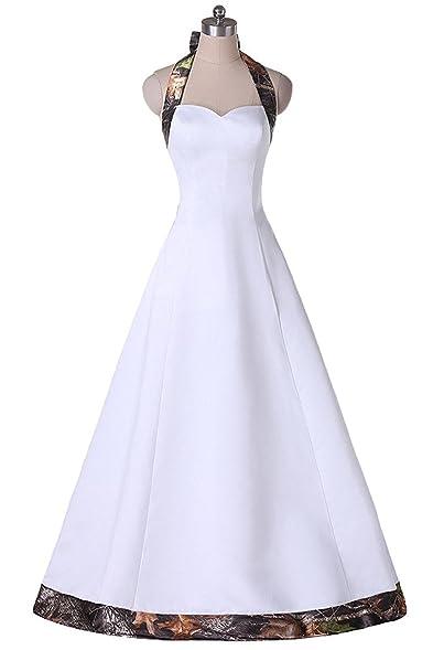 BEALEGAN Lady Women\'s Halter Camouflage Wedding Dresses Camo Bridal ...