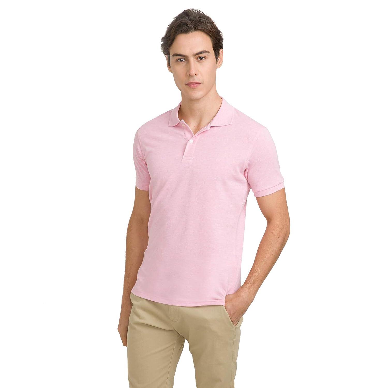 bossini Metropolitan Men Solid Ztay Dry Short Sleeve Polo Shirt Black S,US Size 36