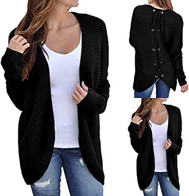Women Long Sleeve Knitted Cardigan Loose Sweater Winter Warm Jacket Coat Outwear