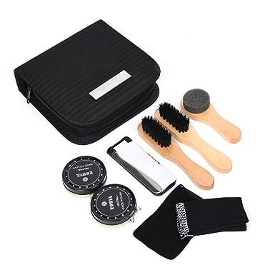 Shoe Care Supply Kit Leather Shoe Shine Shoes Polishing Cleaning