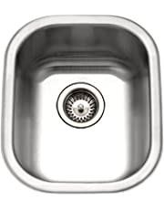 Houzer CS-1607-1 Club 15-1/4-by-19-Inch Undermount Stainless Steel Bar or Prep Sink
