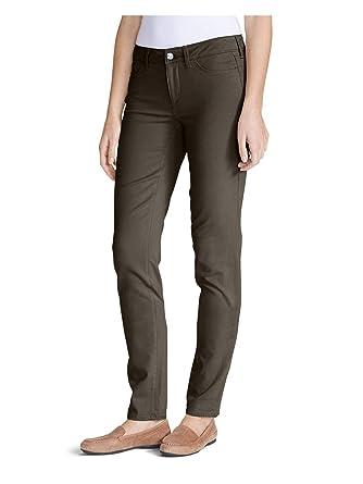 0f290ee8ca9 Eddie Bauer Women s Elysian Twill Slim Straight Jeans - Slightly Curvy