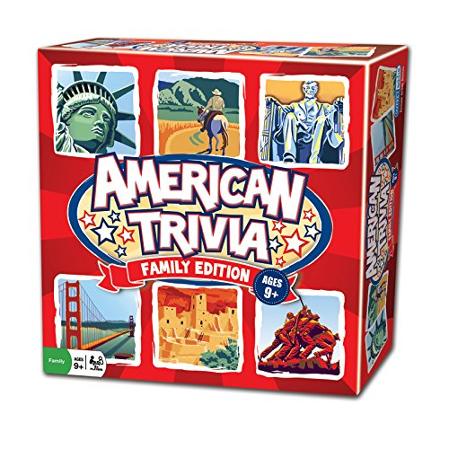 Outset Media Trivia Game - American Trivia Family Edition - The America Themed Family Board Game from Outset Media