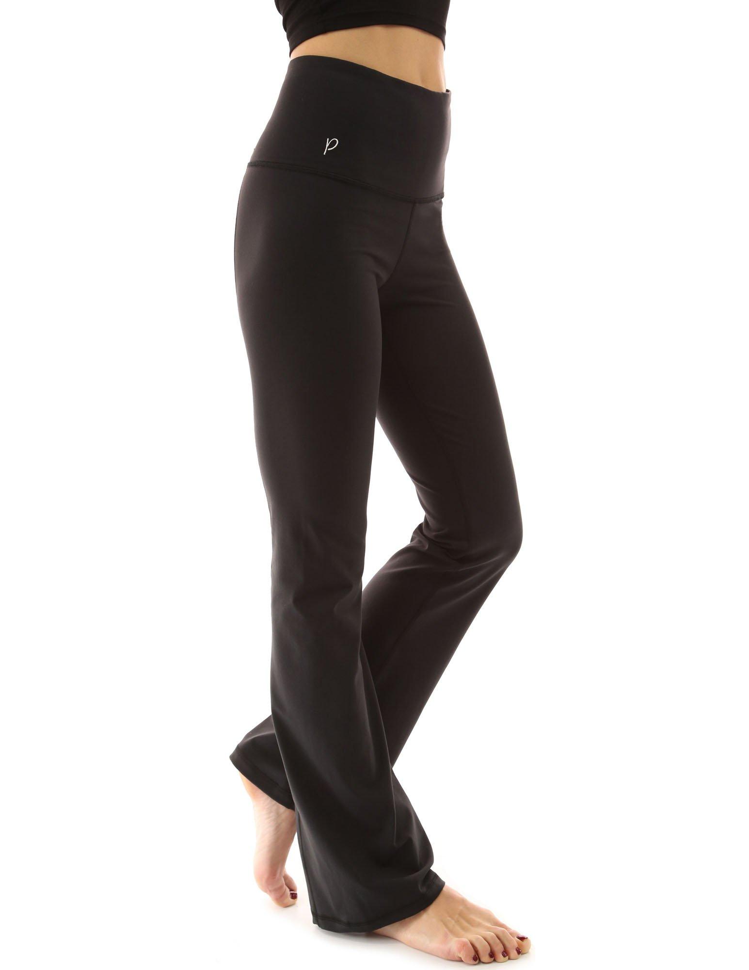 PattyBoutik Women Shaping Series Bootcut Yoga Pants (Solid Black XL) by PattyBoutik
