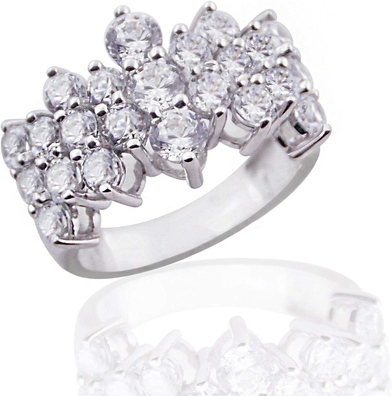 GS /& CO 0.99ct Designer White Round Cut solitaire Unique CZ Diamond Engagement Ring 925 Sterling Silver