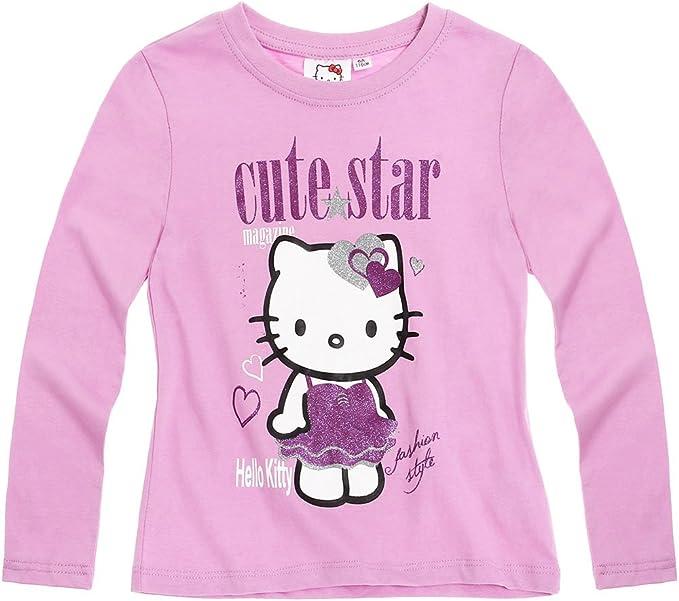 Maglietta a Maniche Lunghe da Ragazza Hello Kitty