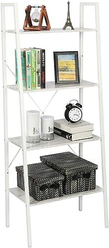 HOME BI 4-Tier Industrial Ladder Shelf Bookcase - the best modern bookcase for the money