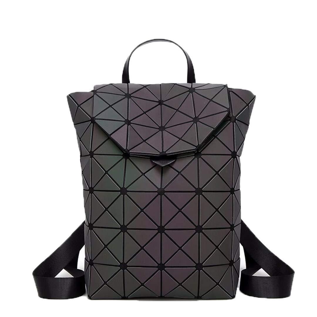 Luminous one size Luminous Backpack for Teenage Girls School Bags Fashion Laser Lattice Geometric Women Backpacks Silver