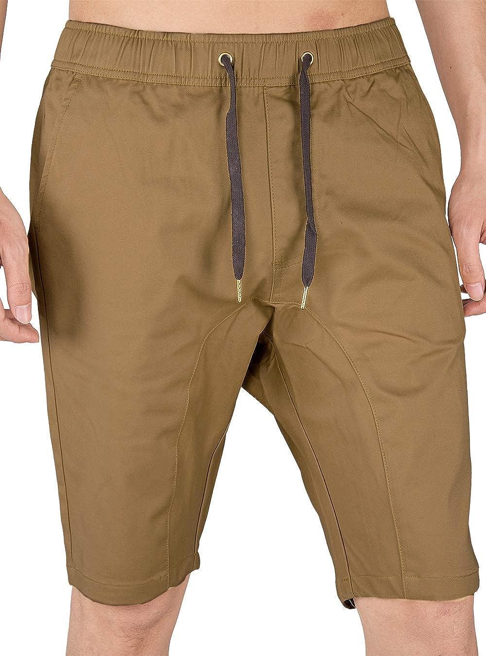Italy Morn Pantaloni Corti e Bermuda da Uomo con Elastico in Vita Pantaloncini