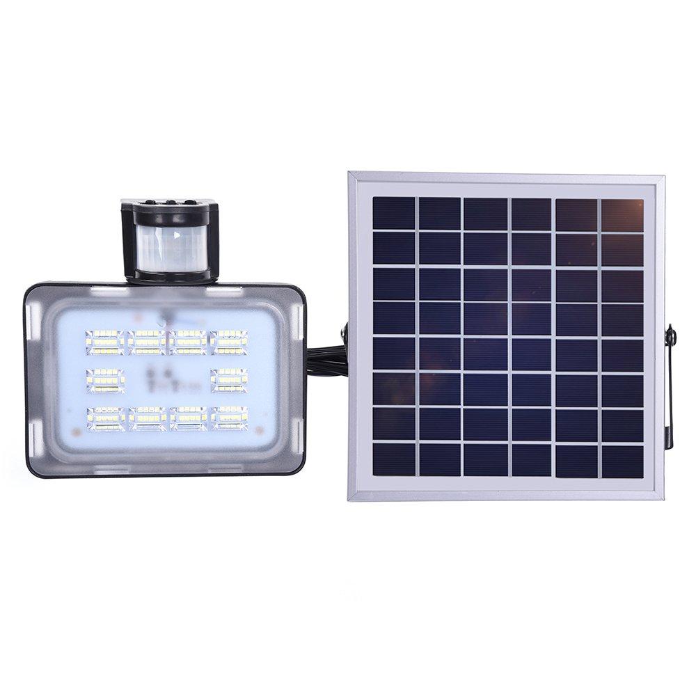 Proyector solar, 20W SMD 2835 Lámpara de exterior LED Sensor de ...