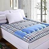 DHWJ French matte,Soft mmattress Thickened,Coral velvet,Student,Matt mat-A 90x200cm(35x79inch)