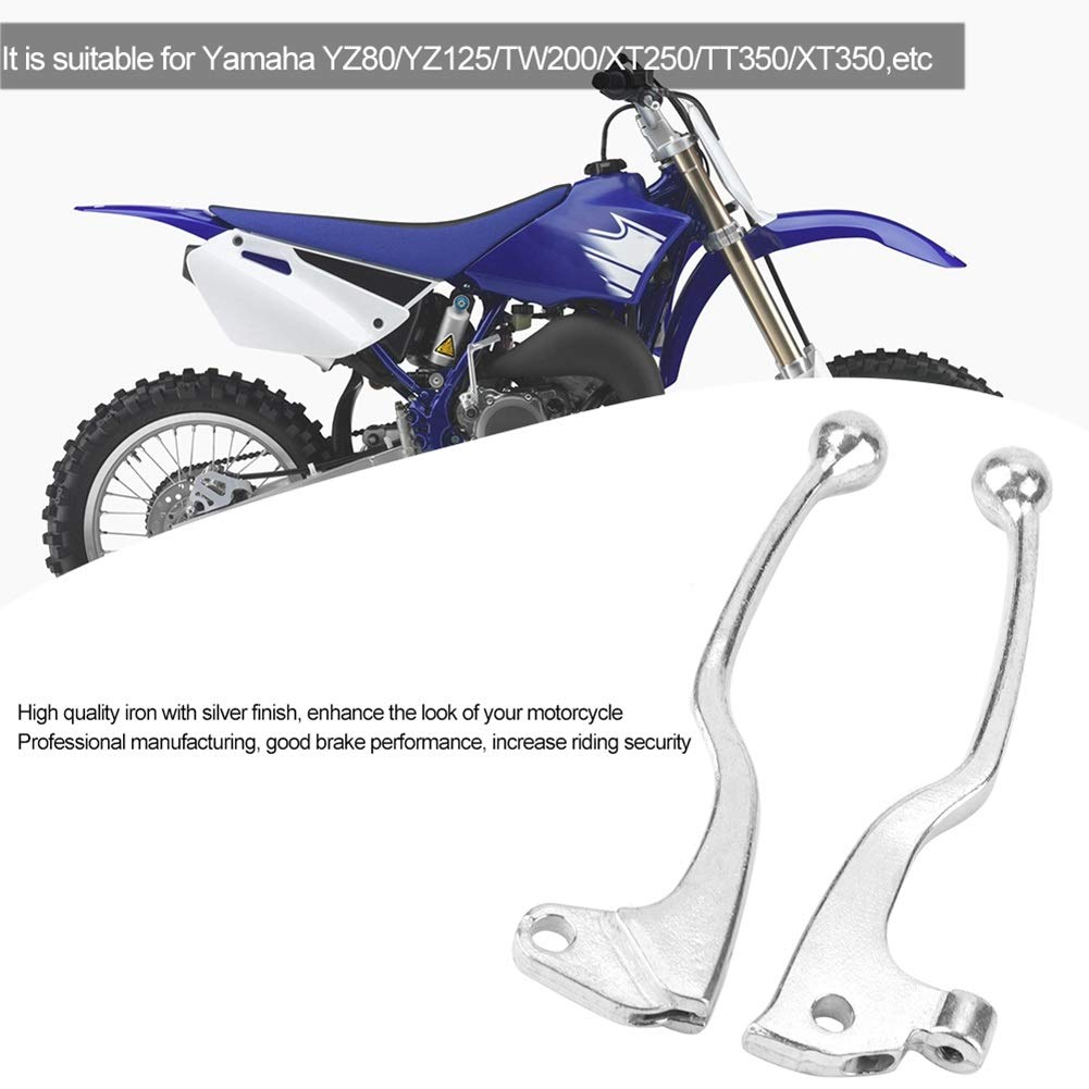 Motorcycle Brake Lever-1 Pair of Motorcycle Clutch Brake Lever Handle Compatible with YZ80//YZ125//TW200