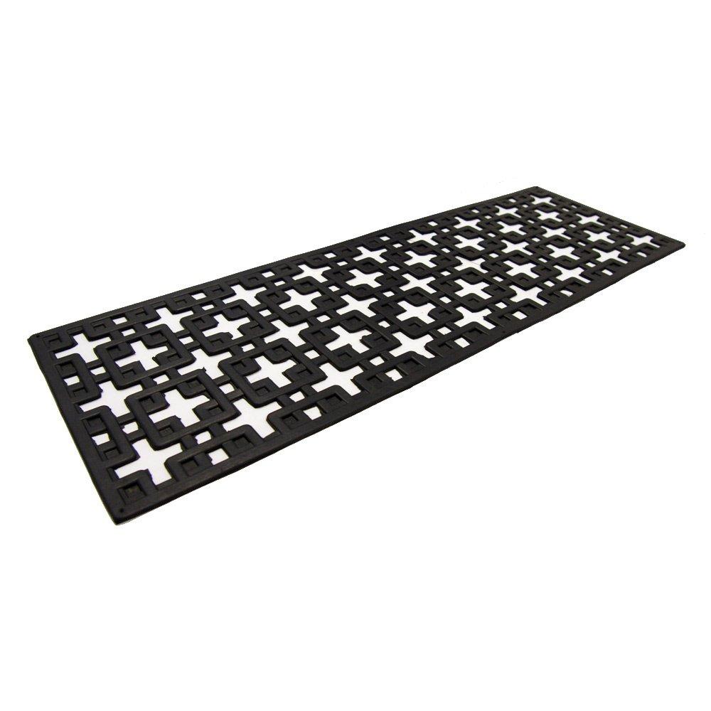 Rubber-Cal 10-104-000-6PK Stars Step Mat Rubber Stair Treads