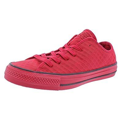 65e243601cb0 Converse Boys Chuck Taylor All Star Ox Fashion Sneakers Red 4 Medium (D) Big