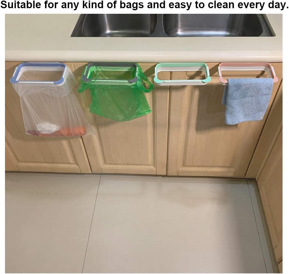 Pliable 2pc//set Hanging Trash Rubbish Bag Holder ordures Rack Cupboard 2019