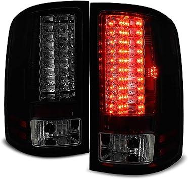 Black 2007-2013 Chevy Silverado 1500 2500 3500HD LED Tail Lights Lamp Left+Right