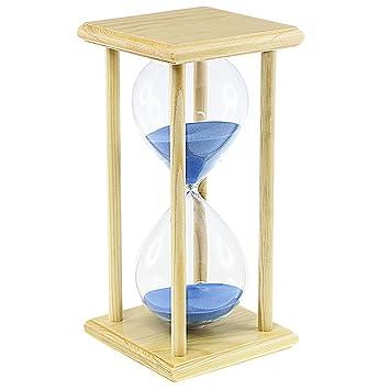 Reloj de arena 30 minutos reloj de arena temporizador para cocina Home Decration oficina escritorio Ornament Sandglass: Amazon.es: Hogar