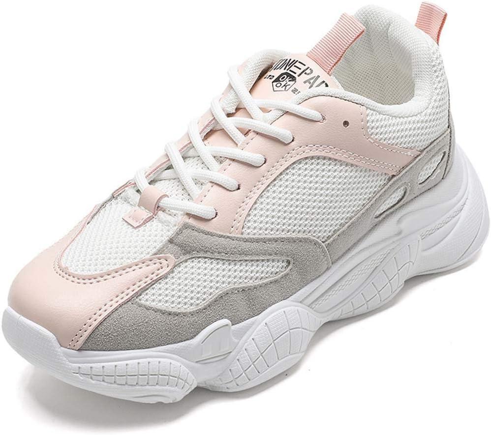 SHOES-HY Zapatillas de Mujer Zapatillas de Deporte Ligeras de Malla Transpirable para Correr Zapatillas de Deporte para Caminar,Rosado,36: Amazon.es: Jardín