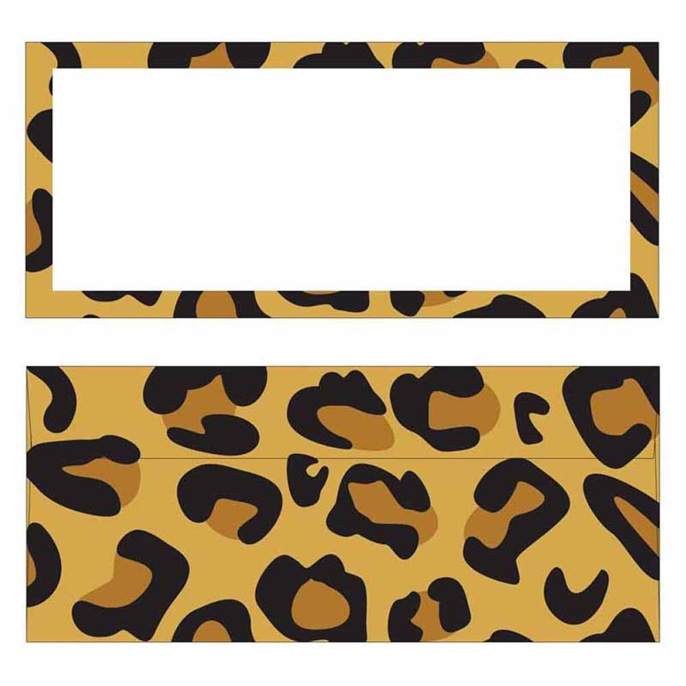 Modern Leopard Print Envelopes by Stationery Creations