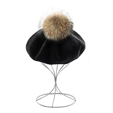 022a283965a JIAHGUK Vintage Women Wool Berets Fashion Teen Girls Beret Hat for Autumn  Winter Adults Ladies Cute