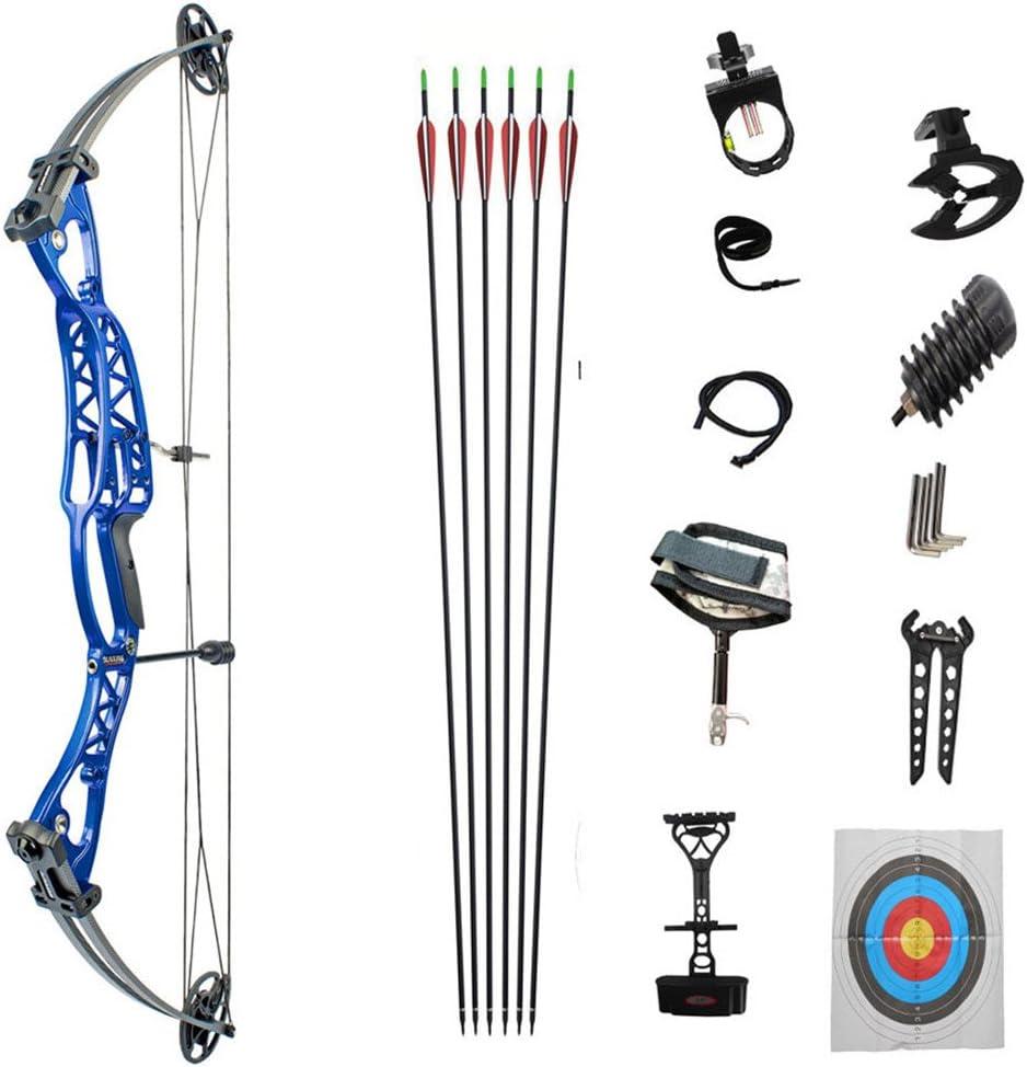 複滑車弓弓アーチェリー狩猟撮影機器の競合の弓のまっすぐな弓 ブルー