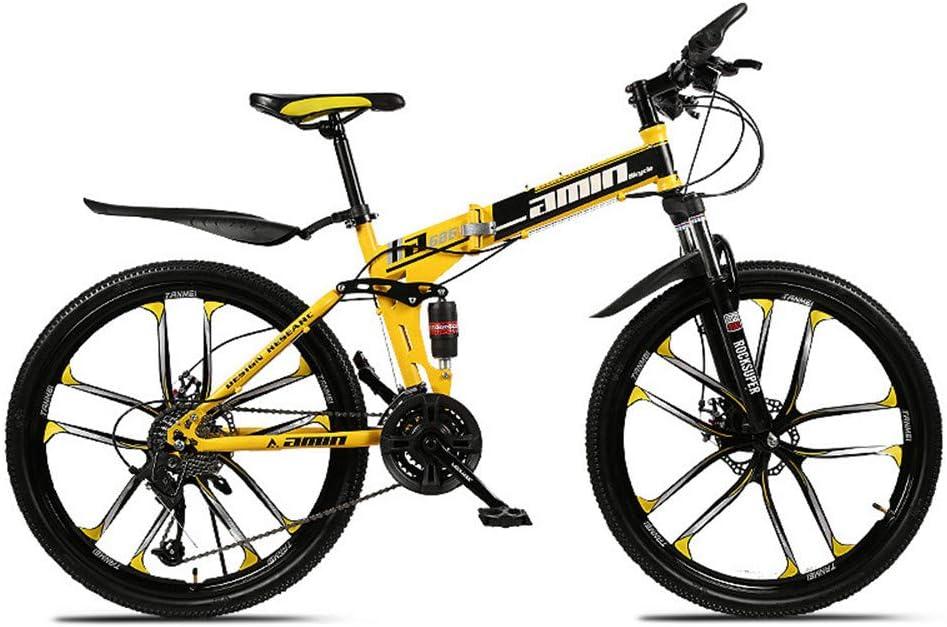 WQY Plegable Bicicleta De Montaña De 24 Pulgadas, Bicicletas De MTB con 10 Adultos Cortador De Radios De Rueda De Bicicleta De Montaña De La Rueda