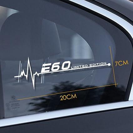 Charminghorse 2pcs Car Styling Reflective Window Decal Sticker for BMW E28  E30 E34 E36 E39 E46 E60 E61 E62 E70 E87 E53 E90 E91 E92 E93 Accessories