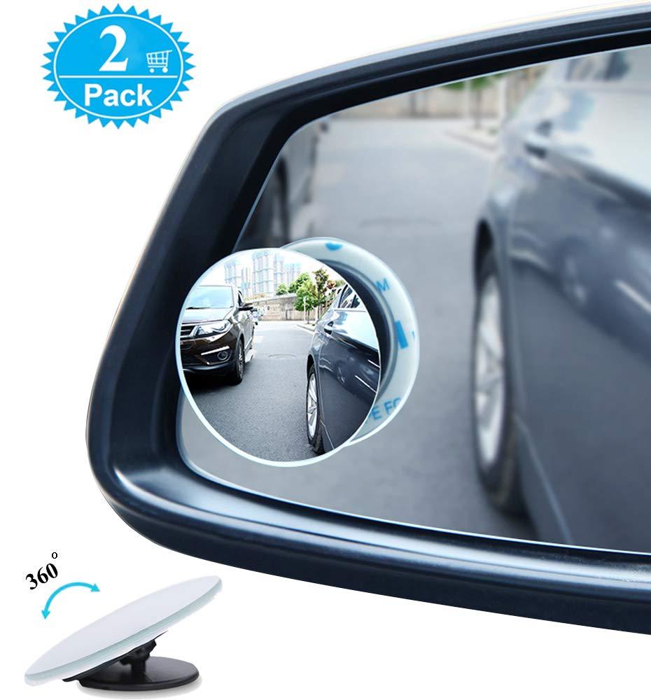 BeskooHome - Specchietto per auto per punti ciechi con rotazione a 360° , regolabile, da attaccare allo specchietto retrovisore –  durevole specchietto laterale per punti ciechi universale per auto, furgoni, camion, motociclette e alt