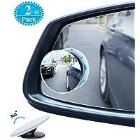 Blind Spot Mirrors For Cars - BeskooHome Waterproof Frameless 360°Rotatable Convex Rear View Mirror - Durable Side Mirror Blind Spot For Universal Cars, Vans, Trucks, Motorbike and More - 2 Pack