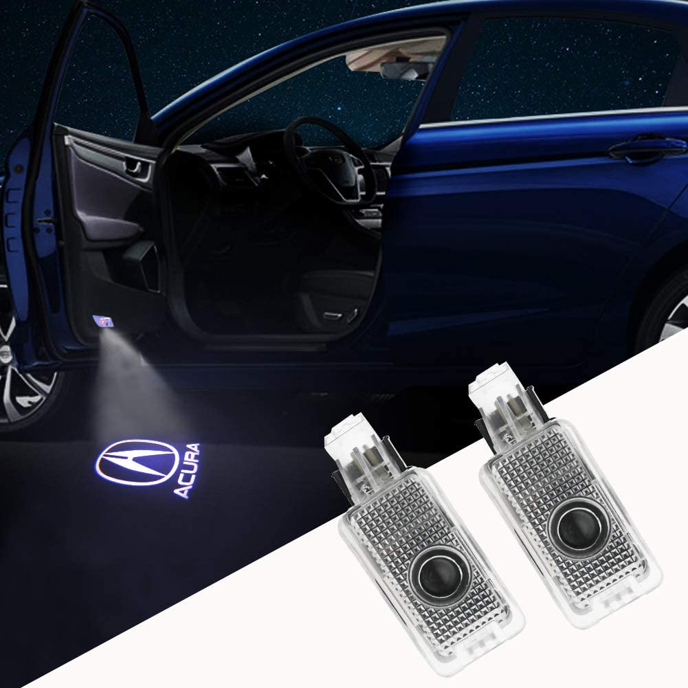 2-Pack Grolish Car Door Logo Projector Car Door Step Courtesy Light For Acura RLX//ZDX//TLX//TL