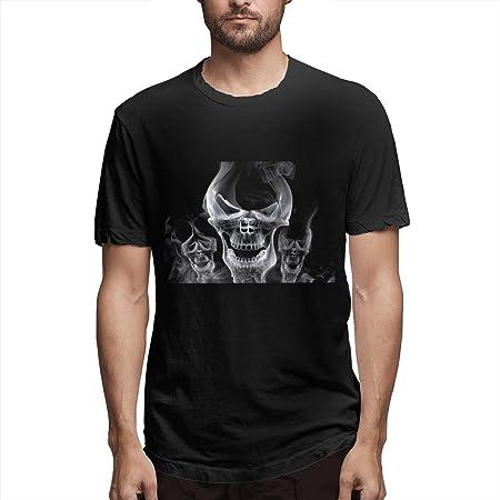 Camiseta de manga corta para hombre, diseño de calavera y ...