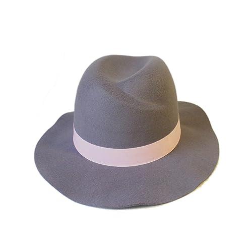 Moda Alto Top Amplios Aleros Todo-fósforo De Gama Alta Otoño E Invierno Las Niñas Sombrero De Fieltr...