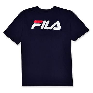 d59777d3 Fila Mens Big and Tall Short Sleeve Cotton Crewneck Logo T Shirt at Amazon  Men's Clothing store: