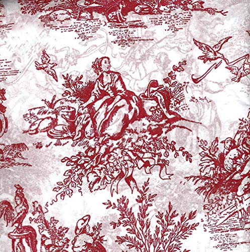 """Barn Red/Burgundy French Toile Gift Wrapping Tissue Paper for Art DIY Crafts in Bulk # 519-10 Large Sheets Size 20"""" x 30"""""""